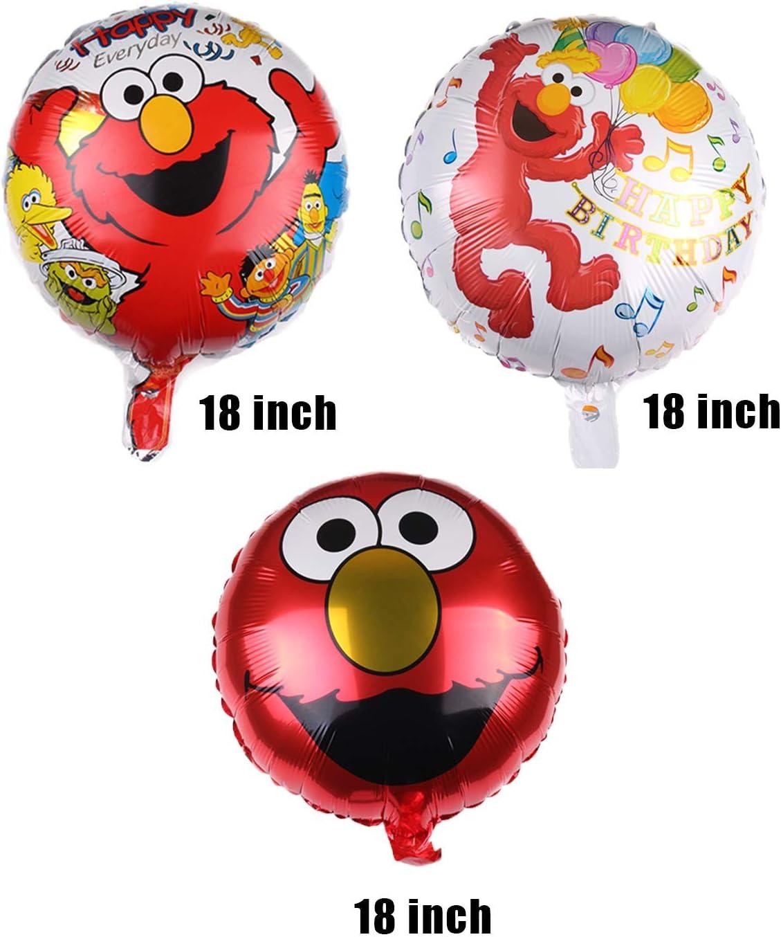 6 Pcs ELMO Foil Balloons for Kids Gift Birthday Party Supplies Decor