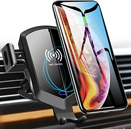 Wireless Car Charger Mount Holder Black
