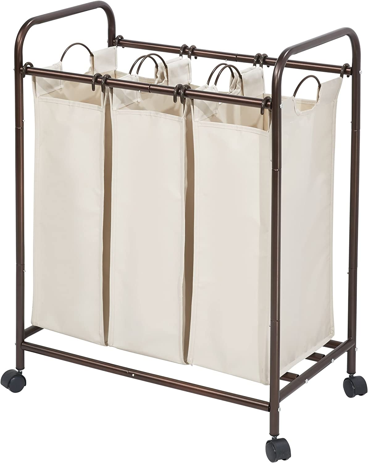 iDesign Basic Laundry Hamper, Bronze