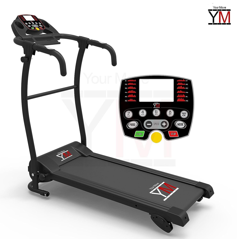 YM - Cinta de correr eléctrica plegable con sensor cardíaco, 1500 W, 2,5 HP de pico: Amazon.es: Deportes y aire libre