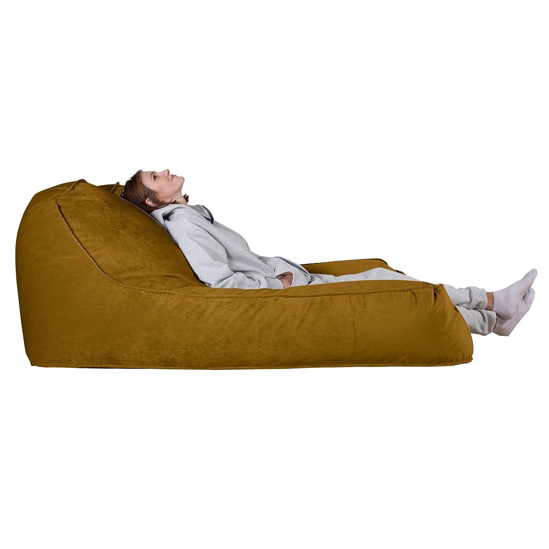 Lounge Pug®, Puff Chaise-Longue, Doble, Terciopelo - Oro ...