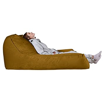 Lounge Pug®, Puff Chaise-Longue, Doble, Terciopelo - Oro ...