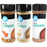 Amazon Brand - Happy Belly Wellness Spices Set: Turmeric, Ginger, Cinnamon