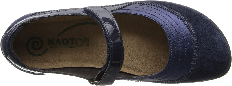 Naot Womens Kirei Leather Sandals Polar Sea Leder Blauer Samt Wildleder Marineblau Lackleder