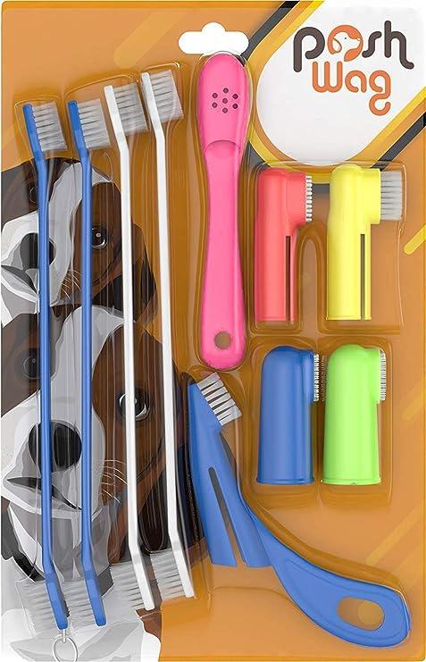 PoshWag Dog Tooth Brush Dog Set Kit
