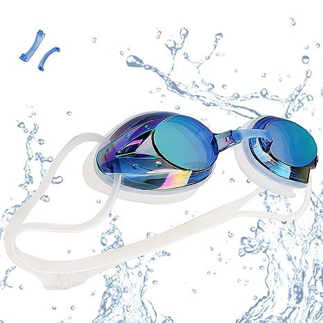 8feef9cd8c30 Occhialini da Nuoto, Anti-Appannamento Occhiali da Nuoto Agonistico  Protezione UV Impermeabile per Adulti