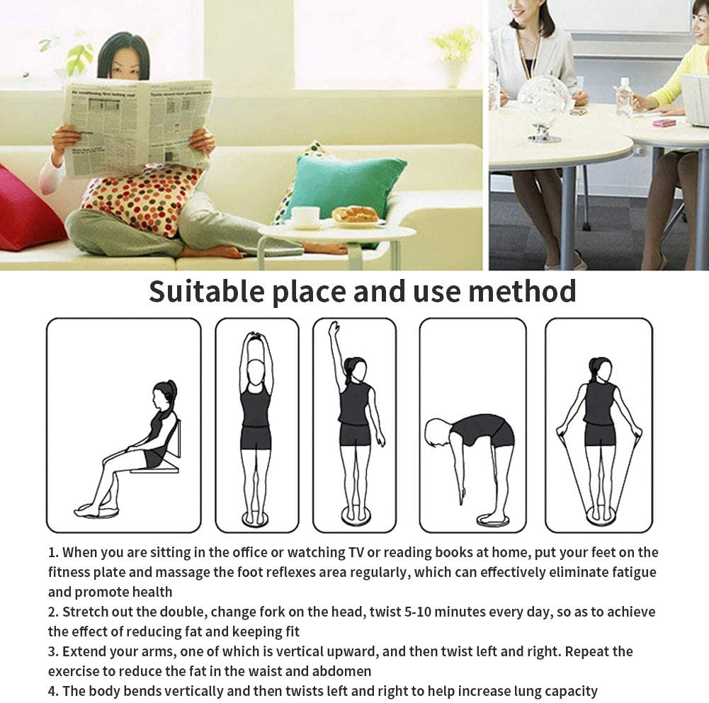LINGS Sport Waist Twist Disc Balance Boards,Inflatable Anti-Slip Stability Board for Physio Posture /& Fitness,Body Shaping Twisting Waist Machine Female Twister Exercise Equipment