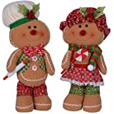 Gingerbread Baker with Strainer hm Plush Fabric Gingerbread Baker Christmas Decoration