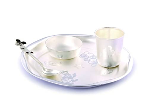 Buy Ojas Silver Plated Baby Dinner Set (S) Online at Low Prices in India - Amazon.in  sc 1 st  Amazon.in & Buy Ojas Silver Plated Baby Dinner Set (S) Online at Low Prices in ...