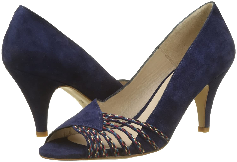 Bogo, Zapatos de Punta Descubierta para Mujer, Marrón (Naturel Nat), 38 EU Petite Mendigote