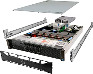 TechMikeNY Server 2X E5-2660 2.20Ghz 16-Core 192GB H710 Rails PowerEdge R720 (Renewed)