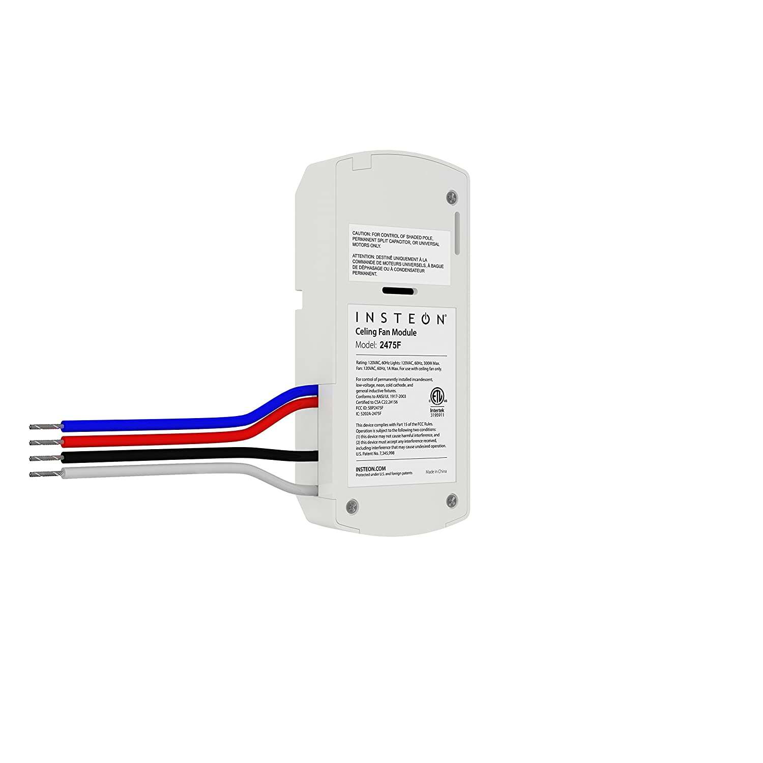 Dual Speed Fan Wiring Insteon 2475f Fanlinc Band Ceiling And Light Controller Connected Home Modules