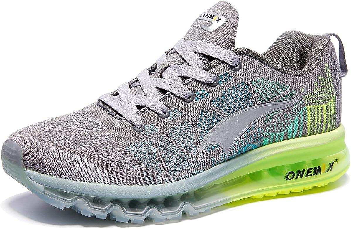 ONEMIX Zapatillas Deportivas para Hombre, Coloridas, para Correr, Deportivas, Acolchadas, para Caminar, Gimnasio, Fitness, Color Gris, Talla 38 2/3 EU: Amazon.es: Zapatos y complementos