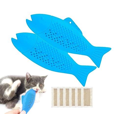 JEEZAO 2 Piezas pez Juguete del Hierba,Cepillo de Dientes del Gato ...