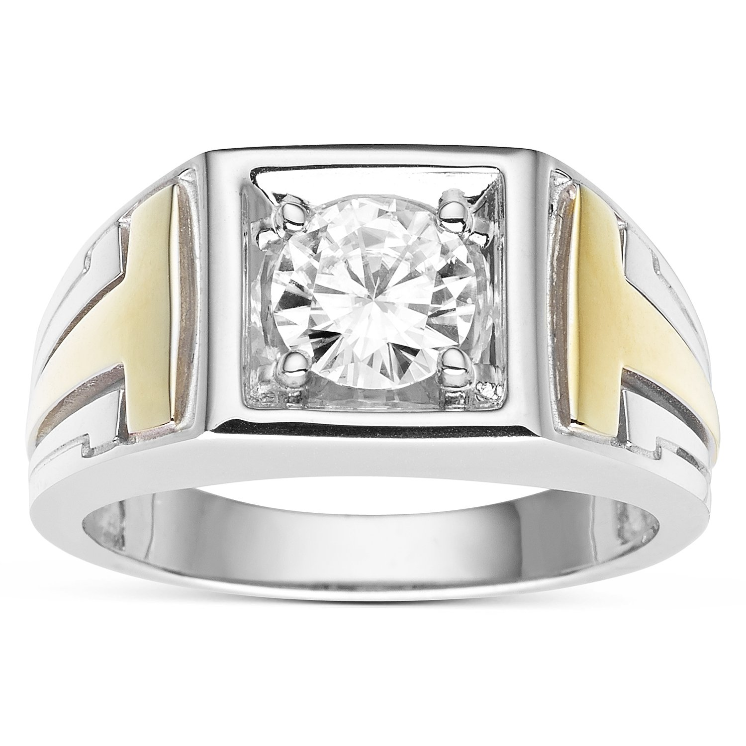 Forever Classic Men�s Round 7.0mm Moissanite Wedding Band-size 11, 1.20ct DEW By Charles & Colvard by Charles & Colvard