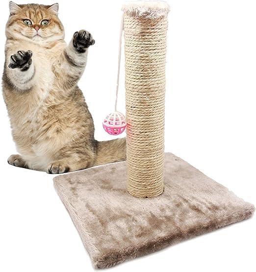 BPS® Juguete Rascador para Gatos con Campana, Scraper para Gato, Animales Domésticos Diferente Modelo para Elegir Color se envia al Azar 28 x 28 x 32cm (Modelo 2) BPS-3158 * 1: Amazon.es: Productos para mascotas