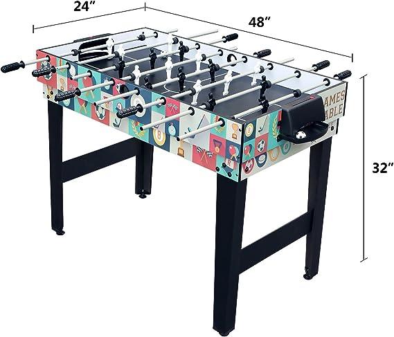 HLC 4 en 1 multifunknierte mesa mesa de juegos de fútbol/Tenis de Mesa/Air Hockey/para mesa de billar: Amazon.es: Deportes y aire libre