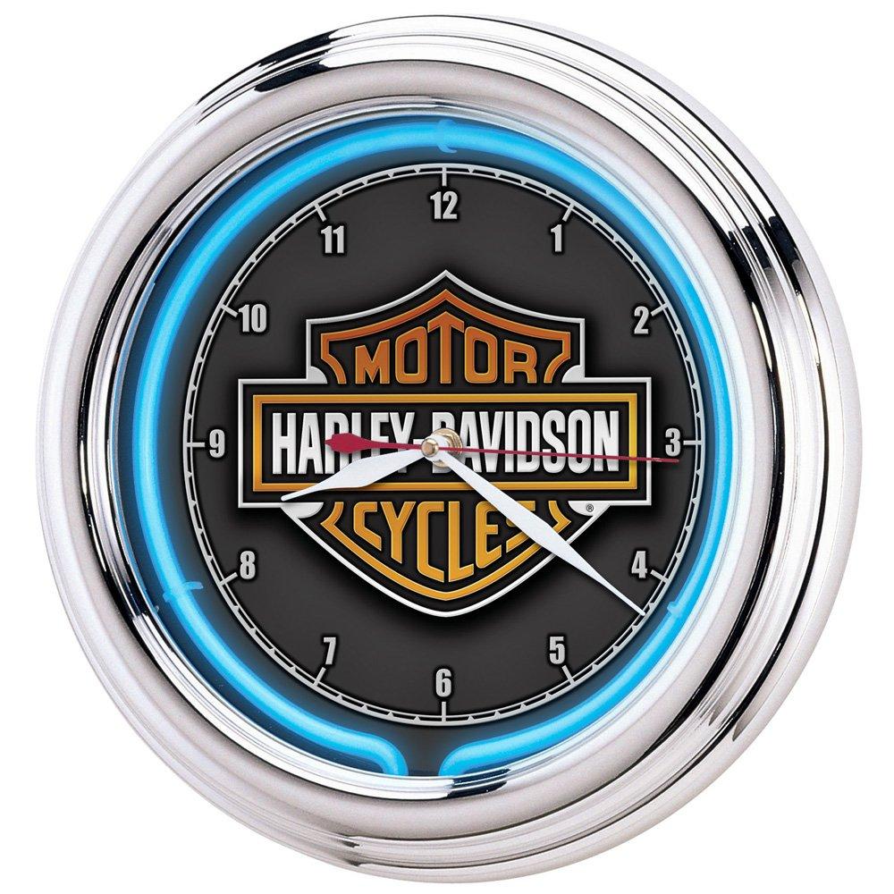 Harley-Davidson Neon Clock