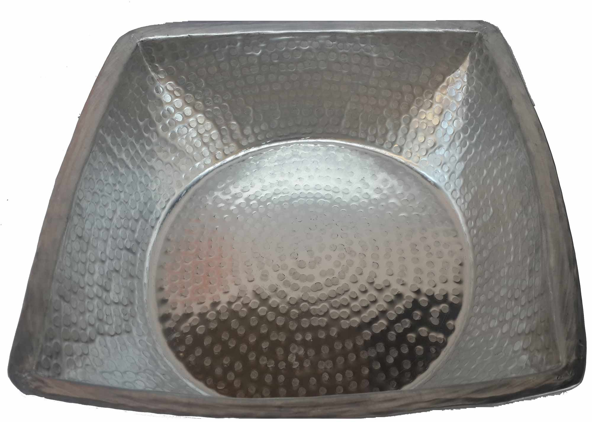 Egypt gift shops Hand Hammered Square Light Weight Silver Foot Wash Massage Spa Cleansing Bathtub Basin Beauty Salon Pedicure Relax Skin Toes Care by Egypt gift shops (Image #1)