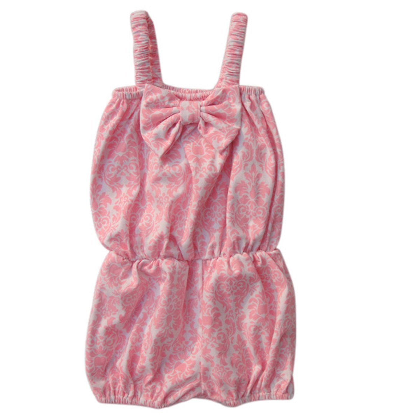 b4fd0faed Amazon.com  Unique Baby Girls Damask Romper  Clothing