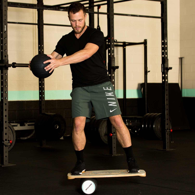 Driftsun Wooden Balance Board - Premium Balance Trainer with Roller for Surf, SUP, Wakesurf, Wakeskate, Ski, Snowboard and Skateboarding. by Driftsun (Image #8)