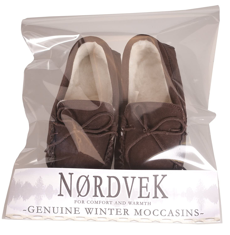 Nordvek - # 430-100 - Pantofole mocassino donna donna donna in camoscio e lana suola rigida antiscivoloCioccolato b7f3a9