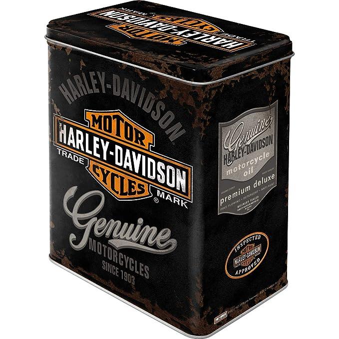 HARLEY-DAVIDSON Genuine Logo - Caja de Almacenamiento 10x14x20 cm ...
