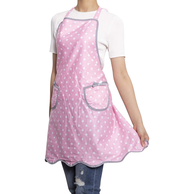 Lightweight Kids Chef Apron for Play Kitchen Style Wendy Polka Dots Pink XINDASHENG NEOVIVA Bib Aprons for Toddler Girls with Pockets ARTS CO LTD HangZhou
