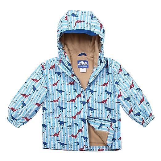 ee9acaad JAN & JUL Water-Proof Fleece-Lined Rain-Coat Rain-Jacket with Hood for  Toddler and Kids, Boys or Girls