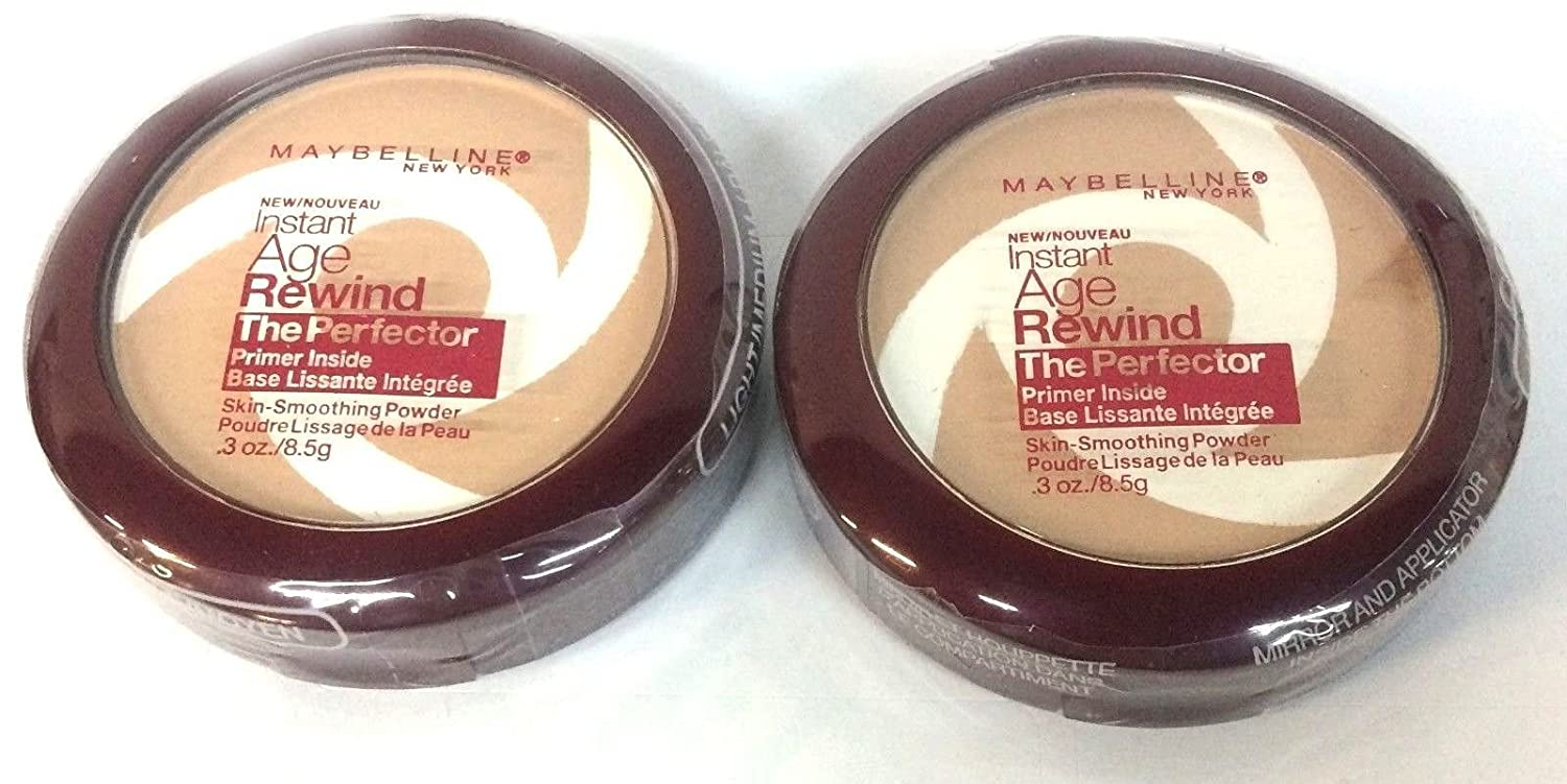 Maybelline New York Instant Age Rewind The Perfector Powder, Light Medium, 0.3 Ounce Pack of 2