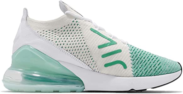 Nike AIR MAX 270 FLYKNIT WOMENS IglooWhiteClear Emerald