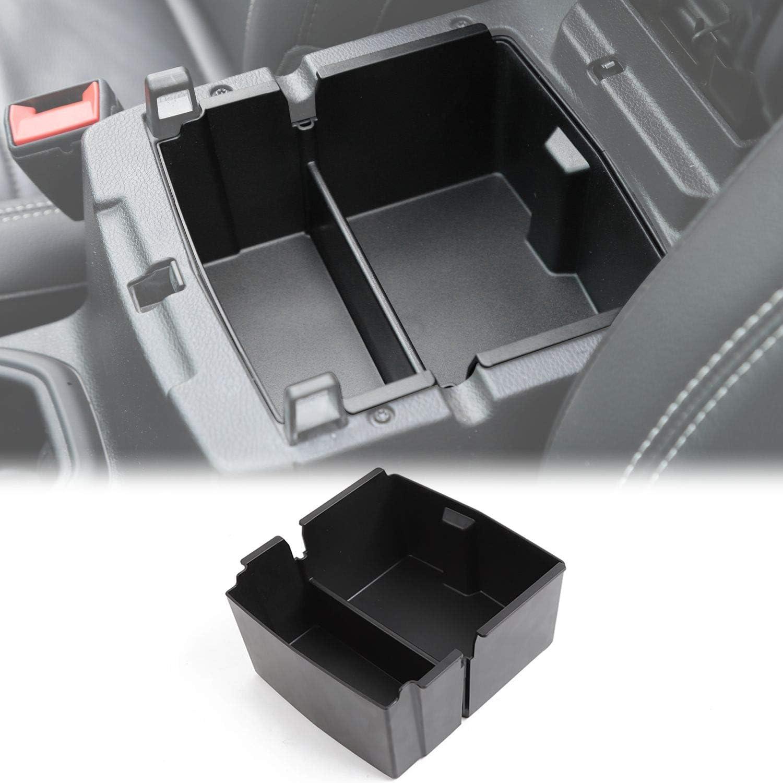 Black Center Console Organizer Tray for Jeep Wrangler JL//JLU 2018 2019 2020 and Jeep Gladiator JT Truck 2020 Armrest Storage Glove Box