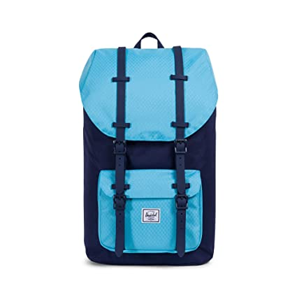 432132aa2 Herschel Little America Rucksack Fabric, Blue Rubber - Backpacks, Fabric,  Rubber, Blue, Uniform, Unisex, 38.1 cm (15 inches), Front Pocket): Amazon.co.uk:  ...