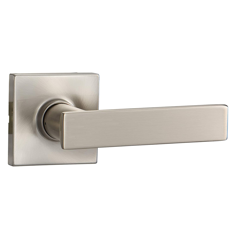 Basics Contemporary Stamford Door Lever Passage Satin Nickel