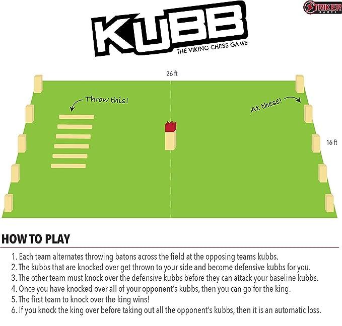 Amazon Striker Games Backyard Kubb Set Outdoor Games