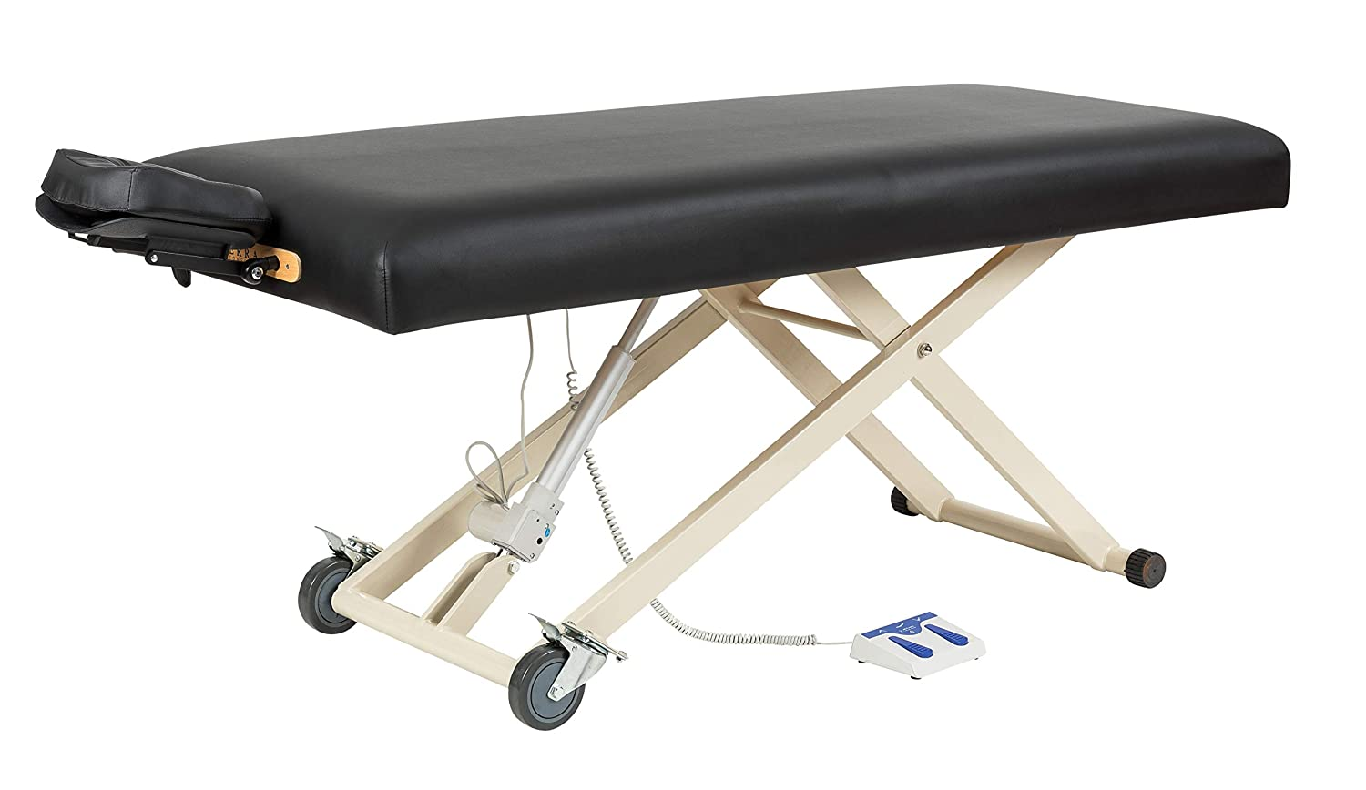 SierraComfort Electric Lift Massage Table, Black