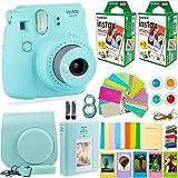 Fujifilm Instax Mini 9 Camera with Fuji Instant Film (40 Sheets) & Accessories Bundle Includes Case, Filters, Album…
