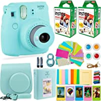 Fujifilm Instax Mini 9 Camera with Fuji Instant Film (40 Sheets) & Accessories Bundle Includes Case,…