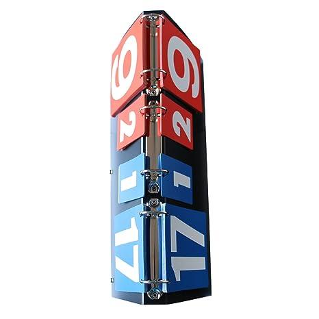 Amazon.com : GOGO Portable Flip Scoreboard for Volleyball/Basketball/Table Tennis (7 Sets, 31 Scores) : Sports & Outdoors