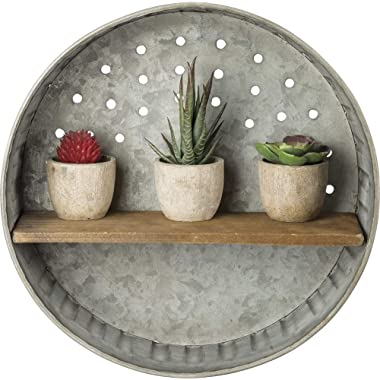 Primitives by Kathy Rustic-Inspired Wall Shelf Metal and Wood