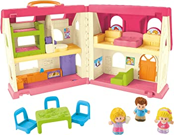 Fisher-Price Little People Surprise & Sounds Home Dollhouse With Furniture
