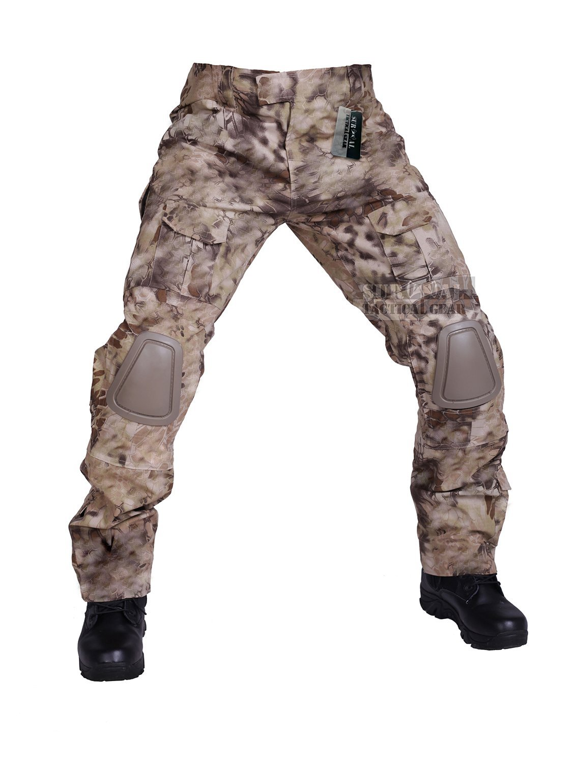 ZAPT Tactical Pants with Knee Pads Airsoft Camping Hiking Hunting BDU Ripstop Combat Pants 13 Kinds Army Camo Uniform Military Trousers (Nomad Camo, XL38) by ZAPT