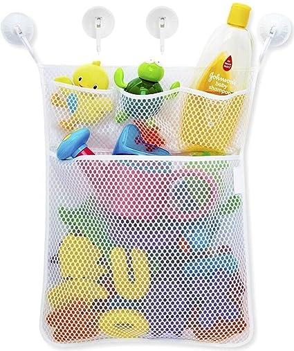 Baby Bath Bathtub Toy Mesh Net Storage Bag Holder Suction Cup Bathroom Organizer