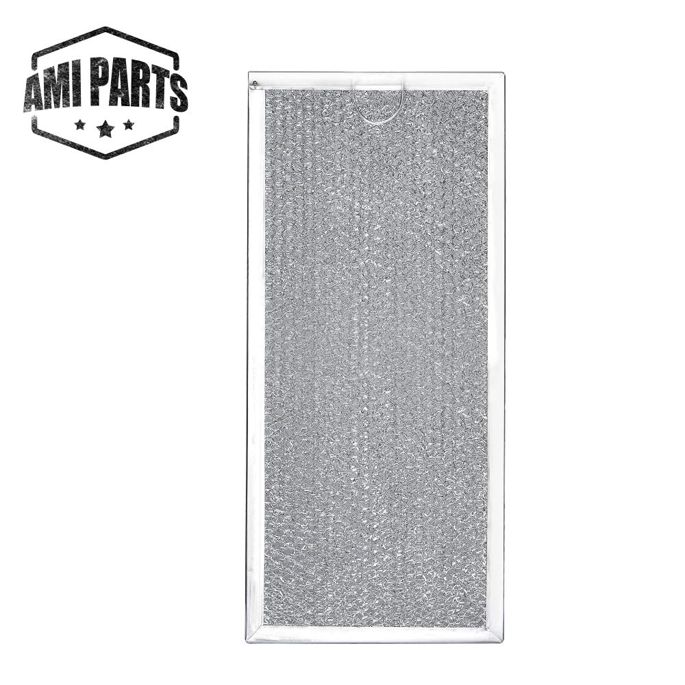 "W10208631A Filter Aluminum Mesh Microwave Oven Grease Filter [Packed in Box] Compatible with Whirlpool Replacement Parts by AMI - 12-15/16"" x 5-3/4"" x 1/16"""