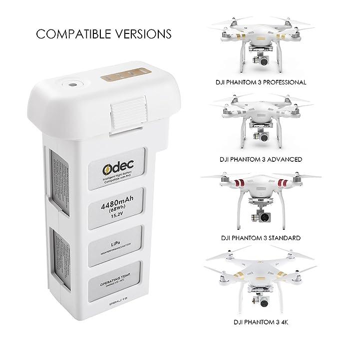 Odec - Batería de recambio para drones DJI Phantom 3 Standard, DJI ...