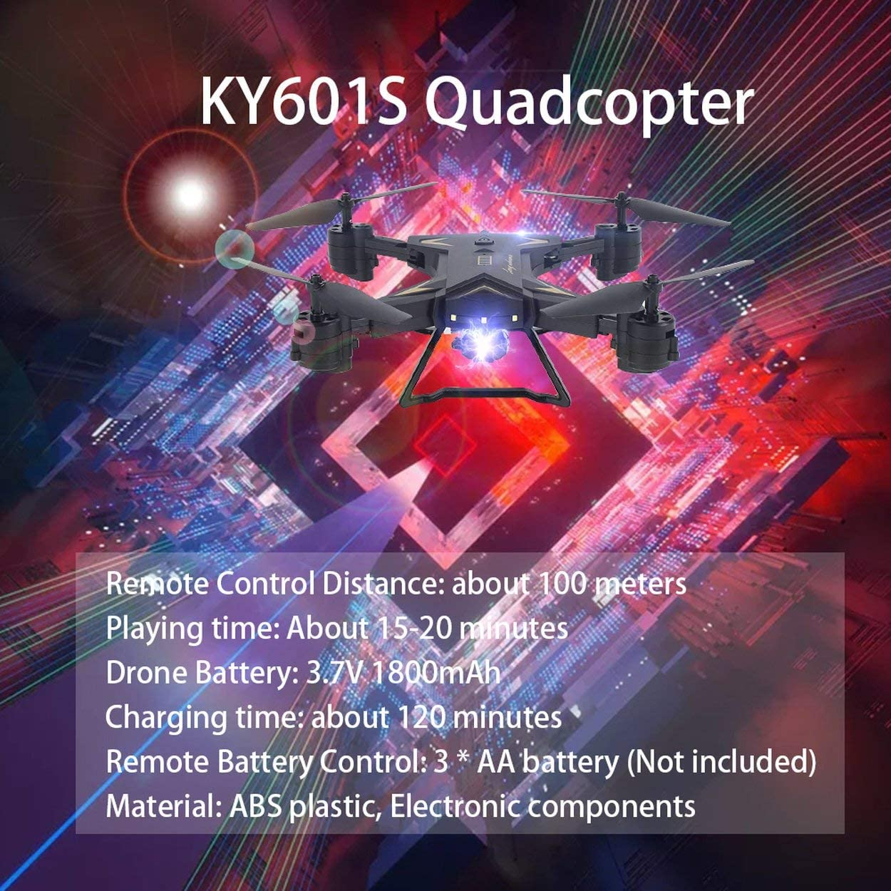 Quadcopter Speed Adjustment 20 Minutes Play Time Three Batteries Version Drones Toys Headless One Key Return RC Drones with 1080P Camera Gravity Sensor FPV Quadcopter
