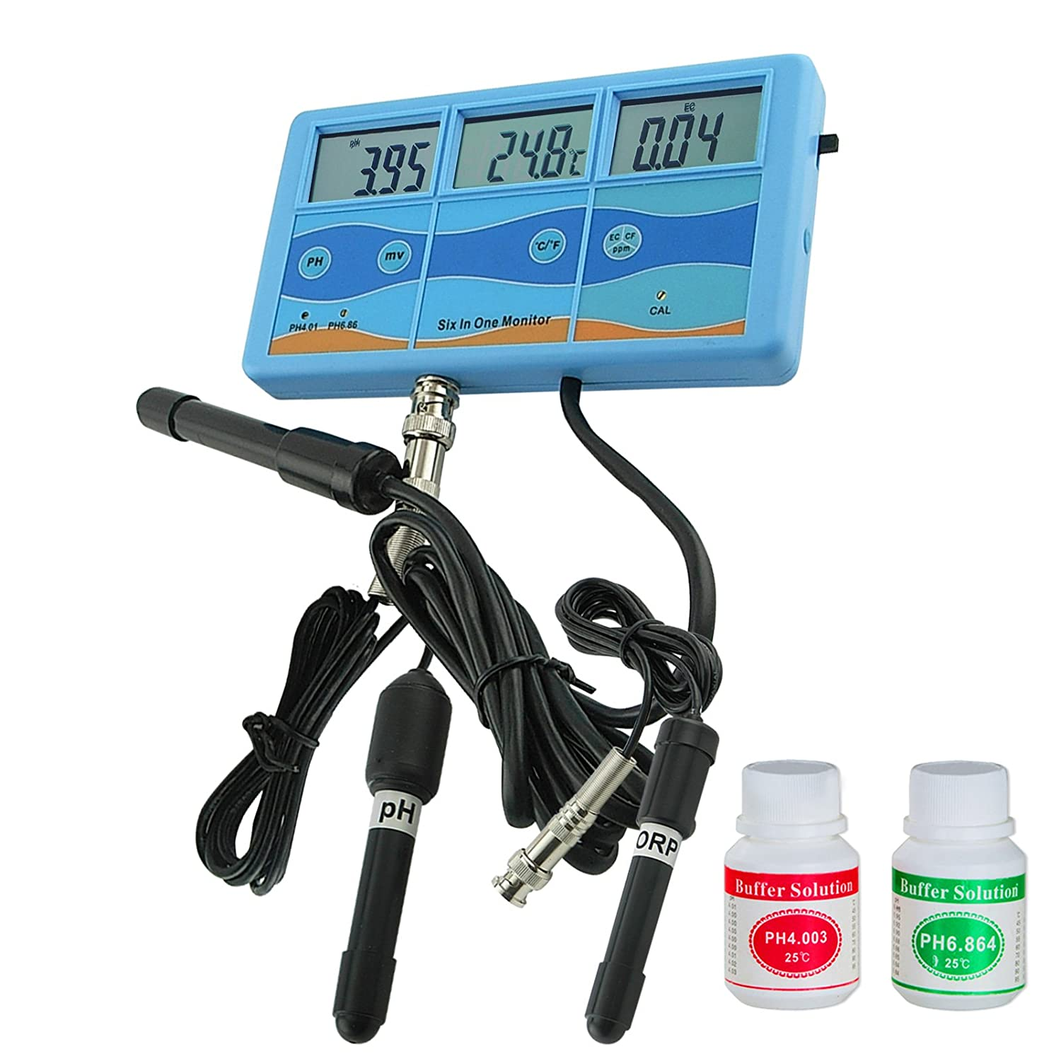 7 in 1 Meter ORP pH CF EC TDS PPM Celsius Fahrenheit Wasserqualität Tester-Monitor