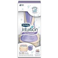 Schick Intuition Pure Nourishment Womens Razor with Coconut Milk and Almond Oil,...