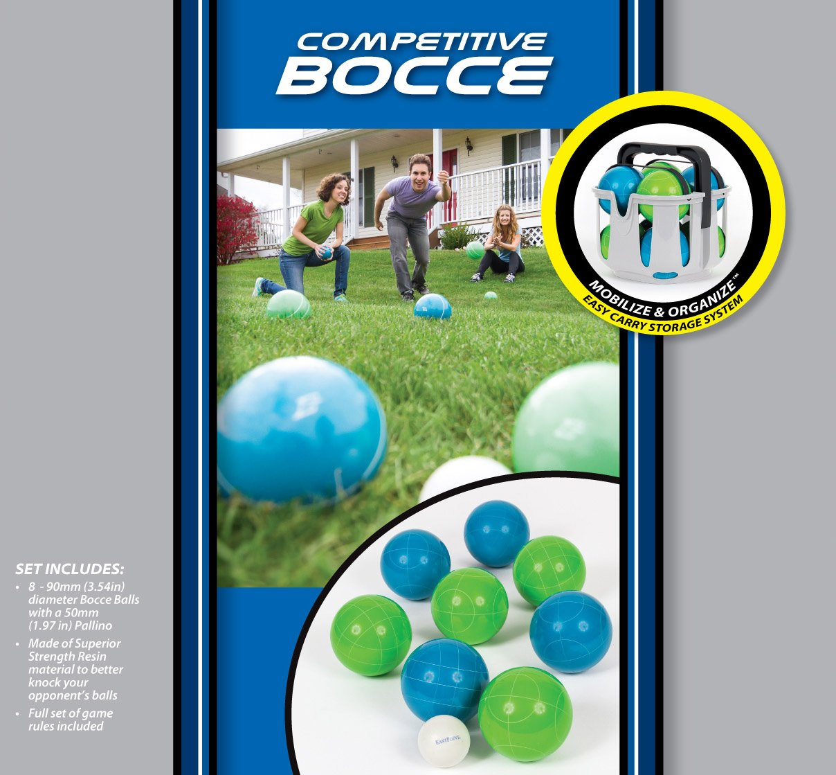 amazon com eastpoint sports 90mm resin bocce set with molded