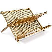EM Home Secaplatos Escurridor de Madera de Bambú en 2 Niveles